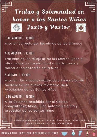 Triduo y Solemnidad en honor a los Santos Niños Justo y Pastor - 2021